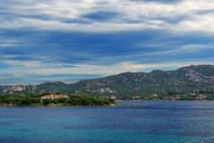 Gallura clouds and sea Royalty Free Stock Images