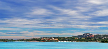 Gallura sea and clouds Royalty Free Stock Photos