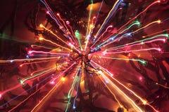 galna lampor för jul Arkivbild