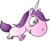 Galna sinnessjuka Unicorn Vector Illustration Arkivbild