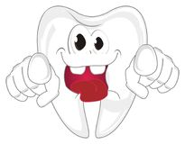 Galna tänder valde dig royaltyfri illustrationer