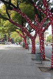 galna trees Arkivbilder