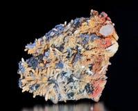 Galène, quartz et calcite Images stock
