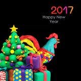 Galo do galo do ano novo de Plasricine Imagens de Stock