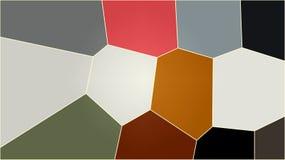 Galo do teste padrão de mosaico ilustração stock