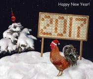 Galo e ovos do fogo Imagem de Stock Royalty Free