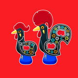 Galo and Galinha de Barcelos Stock Images
