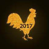 Galo o símbolo do ano novo 2017 Imagens de Stock