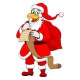 Galo Santa do Natal Fotos de Stock