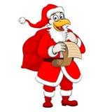 Galo Santa do Natal Foto de Stock