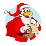 Galo Santa do Natal Fotos de Stock Royalty Free