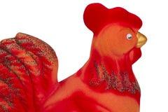 Galo vermelho como um símbolo do ano novo Fotos de Stock Royalty Free