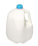 Galon Dojna butelka z błękitną nakrętką Odizolowywającą na bielu Fotografia Royalty Free