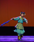 Galopó el caballo--€œLittle Worriors de la ópera de Pekín del  del family†de Yeuh's Imagenes de archivo