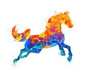 Galoppierende Pferdzusammenfassung Lizenzfreie Stockfotografie