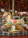 galopujący fairground koń Zdjęcia Stock