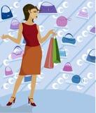 galore ходящ по магазинам Стоковые Фото