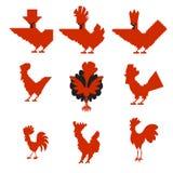 Galos vermelhos Fotografia de Stock Royalty Free