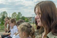 Galowy koncert na cześć zwycięstwo dzień w wojnie światowa 2 może 9, 2016 w Kaluga regionie w Rosja Obrazy Royalty Free