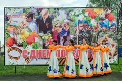 Galowy koncert na cześć zwycięstwo dzień w wojnie światowa 2 może 9, 2016 w Kaluga regionie w Rosja Fotografia Royalty Free