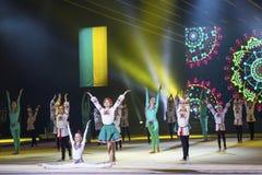 Galowy koncert Rytmicznej gimnastyki Międzynarodowa filiżanka w Kyiv fotografia stock
