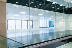 Glass partitions Royalty Free Stock Photo