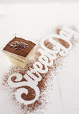 Galss of tiramisu Royalty Free Stock Photo
