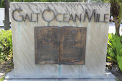 Galt Ocean Mile Entry Sign Fotografie Stock Libere da Diritti