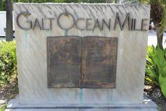 Galt oceanu wejścia Milowy znak Zdjęcia Royalty Free