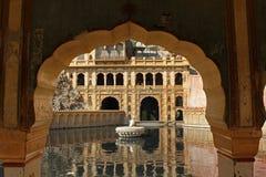 Galta Templee, der Affetempel in Indien Stockfotos