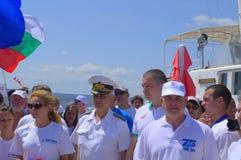 Galаta-Varna swimming marathon VIP guests Stock Photos