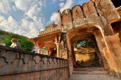 Galtaji, ο ναός πιθήκων Jaipur Rajasthan Ινδία στοκ εικόνα