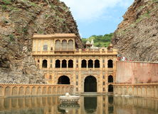 Galtaji tempel i jaipur. Royaltyfria Bilder