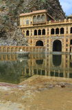 Galtaji Temple Jaipur. The ancient famous Galtaji Temple at Jaipur,Rajasthan,India stock photo
