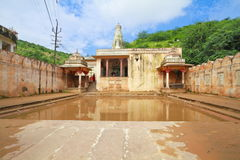 Galtaji Temple Jaipur. The Temple of Balaji inside the ancient famous Hindu pilgrimage Galtaji Temple at Jaipur,Rajasthan,India. The temple consists of several stock images