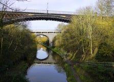 Galton bro, Smethwick, West Midlands, U K Arkivfoton