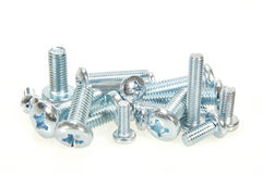 Galvanised bolts. Isolated on a white background stock photography