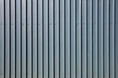 Galvanised steel fence Stock Photos