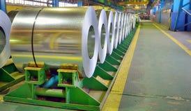 Galvaniserade stålspolar royaltyfri foto