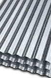 galvaniserat metallark Fotografering för Bildbyråer
