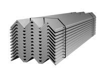 Galvaniserat stålhörn Metallprodukter illustration 3d royaltyfri illustrationer