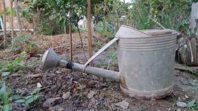 Galvanisez le pot de l'eau photographie stock