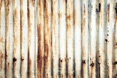 Galvanisierte Eisenplatte der Nahaufnahme Rusted Stockbild