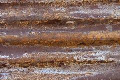Galvanisierte Eisenplatte der Nahaufnahme Rusted Lizenzfreie Stockbilder