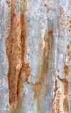 Galvanisierte Eisenplatte der Nahaufnahme Rusted Lizenzfreie Stockfotos
