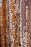 Galvanisierte Eisenplatte der Nahaufnahme Rusted Stockfotos