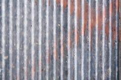 Galvanisierte Eisenplatte des Zinks Rusted Stockbilder