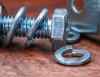 Galvanize iron with snap rings stock photography