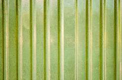 Galvanize wall. Close up galvanize wall with the yellow green color stock image