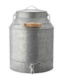 Galvanized Beverage Dispenser with clipping path Stock Photos